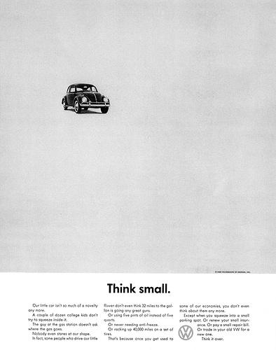промо плакат - think small