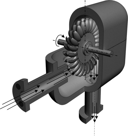 pelton turbine 3D