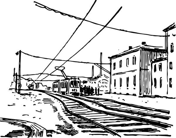 скица на трамвајска линија