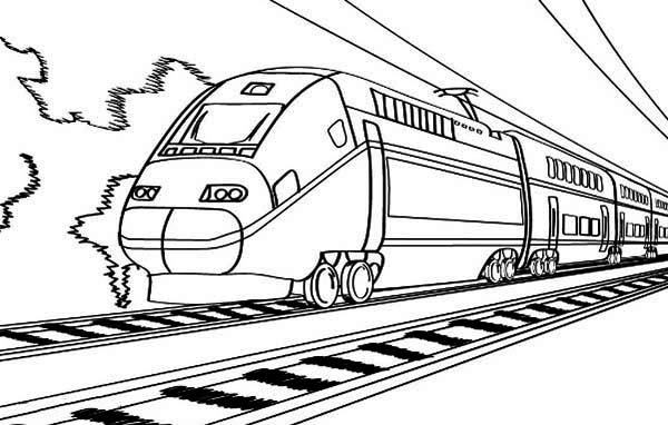 скица на е-железница