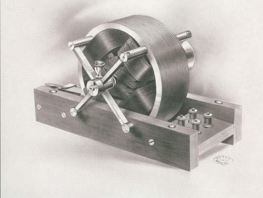 Слика 2 - Првиот Теслин асинхрон мотор, демонстриран 1888 во AIEE